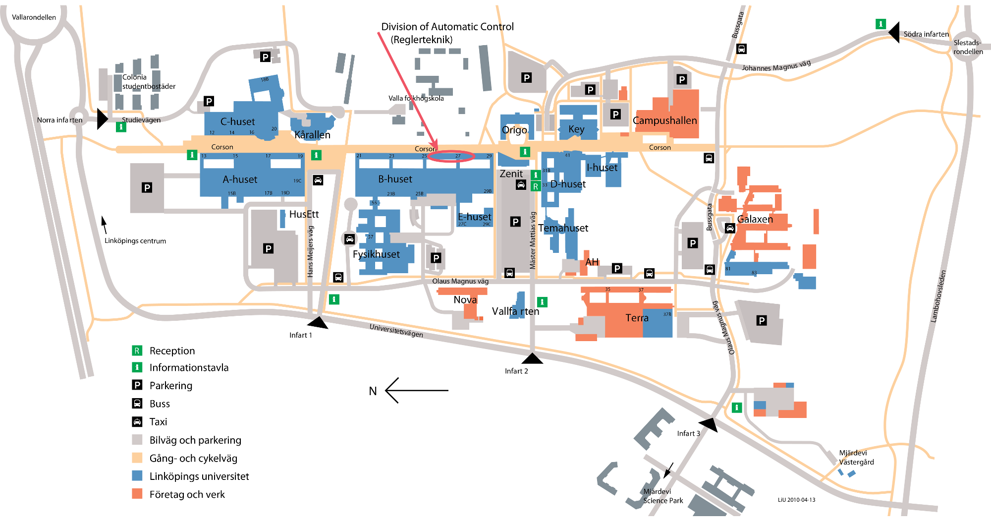 Campus Valla map